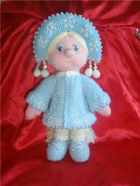 кукла снегурочка спицами