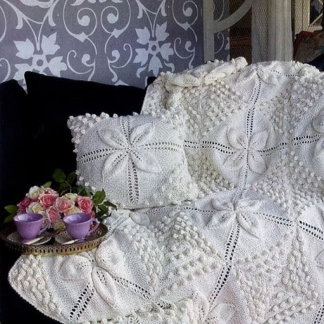 подушка спицами фото