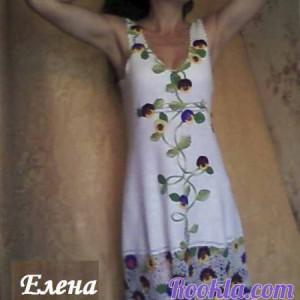 Платье Анютины глазки. Работа Елены Шляковой