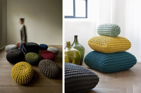 вязание подушки спицами