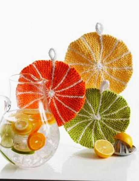 прихватка в форме апельсина