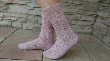 как вязать носки спицами