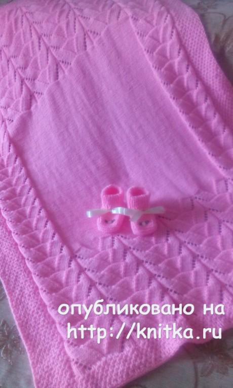 Детские пледы связанные спицами. Работы Аллы Мишенькиной вязание и схемы вязания