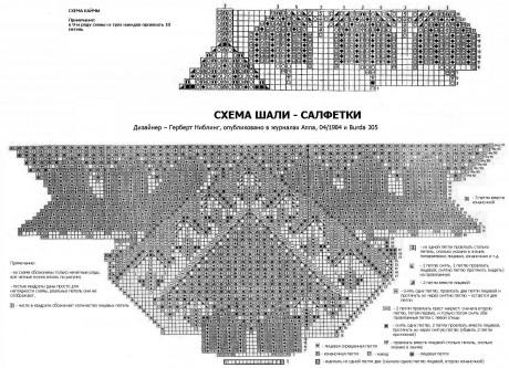 Схема вязания скатерти