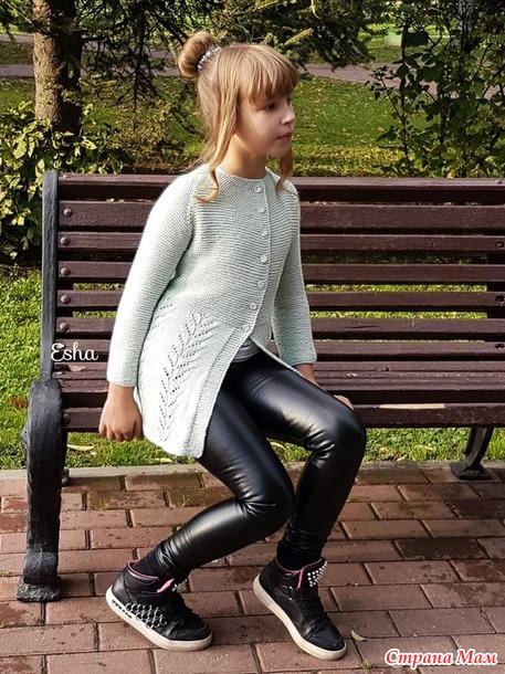 кофта спицами для девочки