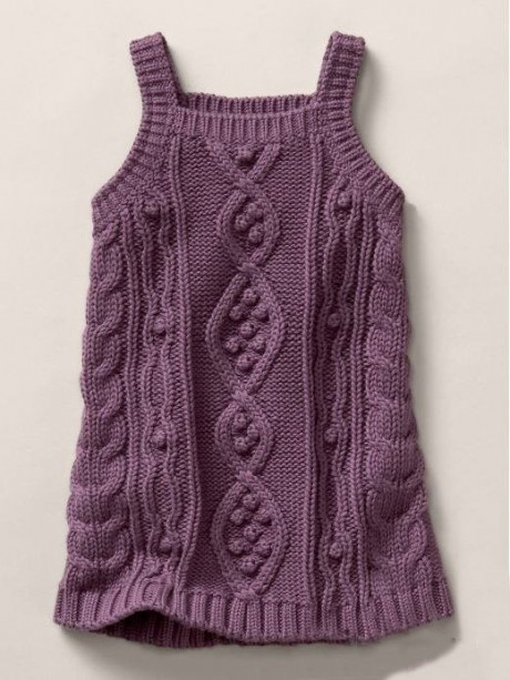 фиолетовая туника для девочки спицами