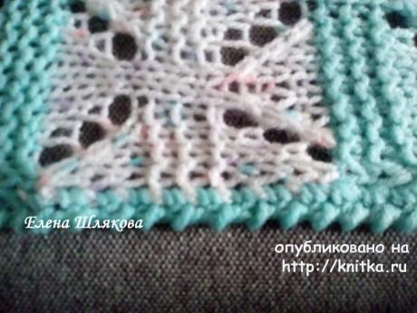 Детский плед спицами. Работа Елены Шляковой вязание и схемы вязания