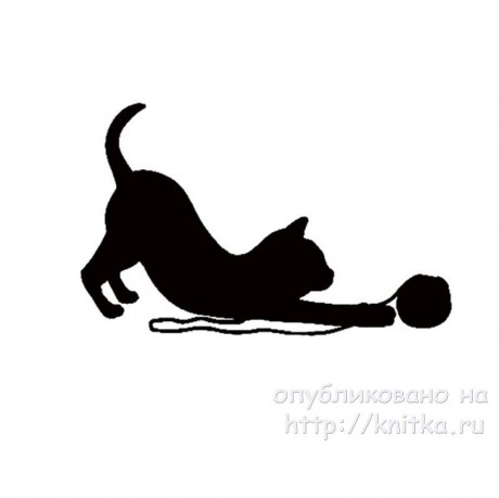 Двухсторонний плед спицами Коты. Работа Ирины вязание и схемы вязания
