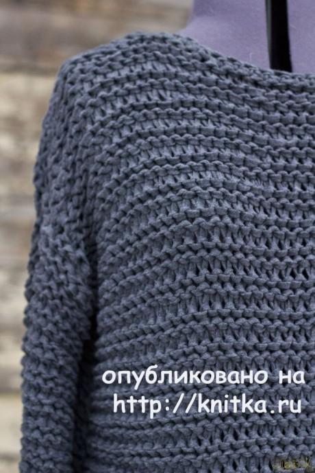 Свитер - кольчуга спицами. Работа Елены Петровой - ПоВяЖу вязание и схемы вязания