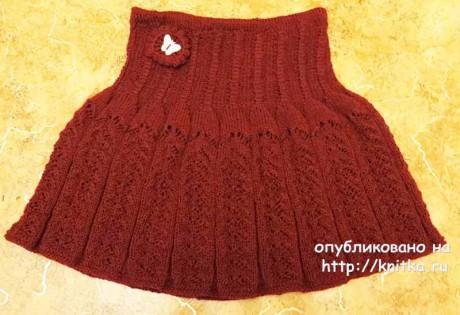 Юбка для девочки спицами. Работа Марины вязание и схемы вязания