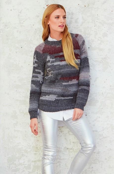 пуловер интарсия описание