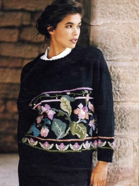 пуловер интарсия фото