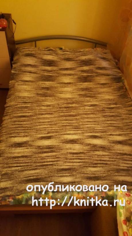 Вязаные спицами пледы. Работы Людмилы вязание и схемы вязания