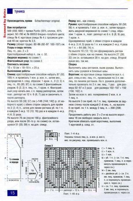 Ажурная туника цвета лаванды описание