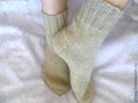 Носки на 5 спицах со сменной пяткой