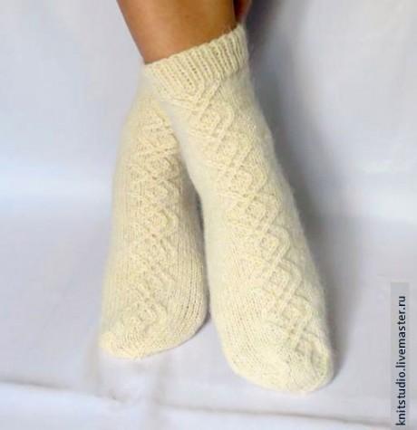 Как связать шерстяные носки на 5 спицах, мастер - класс!
