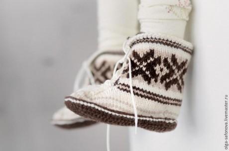 Скандинавские носки на 5 спицах для детей