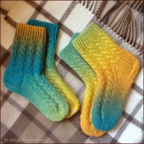 Вязаные носки из Дундаги на 5 спицах