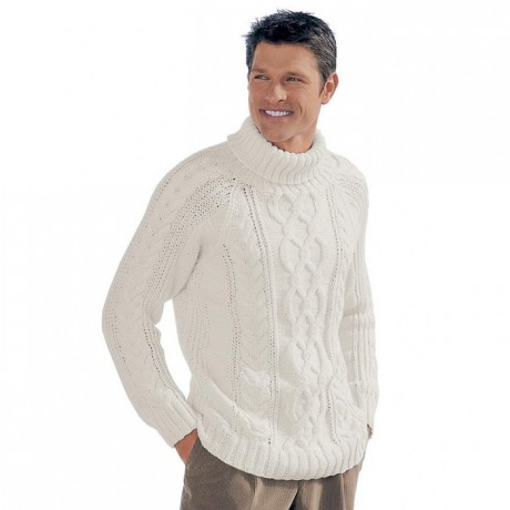 вязание спицами мужского свитера