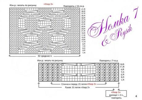 схемы вязания мужского свитера