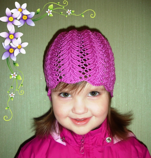 Вязание детской ажурной шапочки на спицах