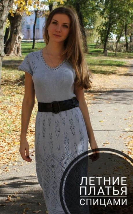 Вяжем спицами летние платья для женщин и девочек. Вязание спицами.