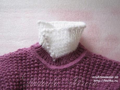 Джемпер для девочки спицами. Работа Людмилы Петровой вязание и схемы вязания