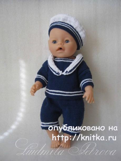 Костюм для куклы Baby Born. Работа Людмилы Петровой вязание и схемы вязания