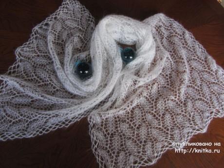 Палантин из мохера. Работа Наталии Левиной вязание и схемы вязания