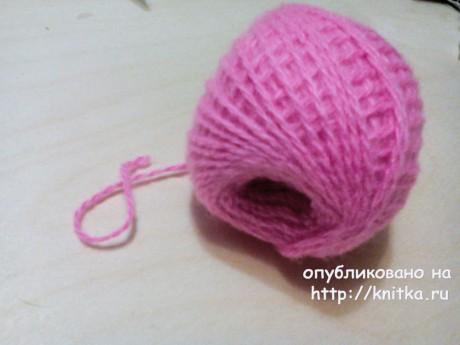 Шапочка для девочки с ушками. Работа Светланы Норман вязание и схемы вязания