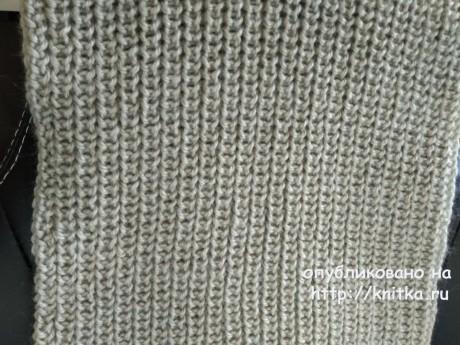 Шарф спицами. Работа Кристины Филиной вязание и схемы вязания