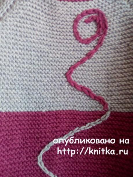 Вязаный спицами кардиган. Работа Снежаны вязание и схемы вязания