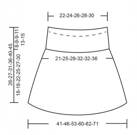 Схемы вязания юбки для девочки спицами