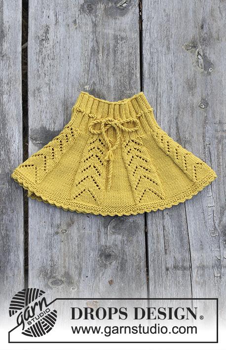 Как связать юбку в складку для девочки  спицами