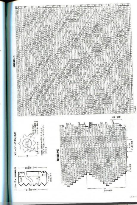 схема ажурного жакета из японского журнала