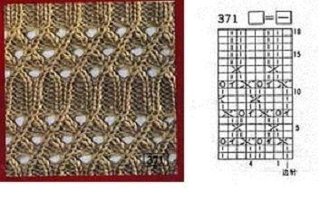 ажурная схема вязания