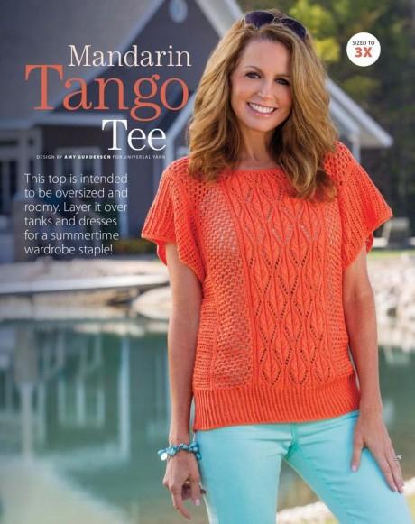 Летний ажурный топ «Mandarin Tango Tee»