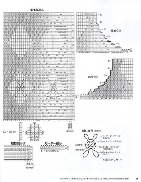 схема топ - безрукавки спицами