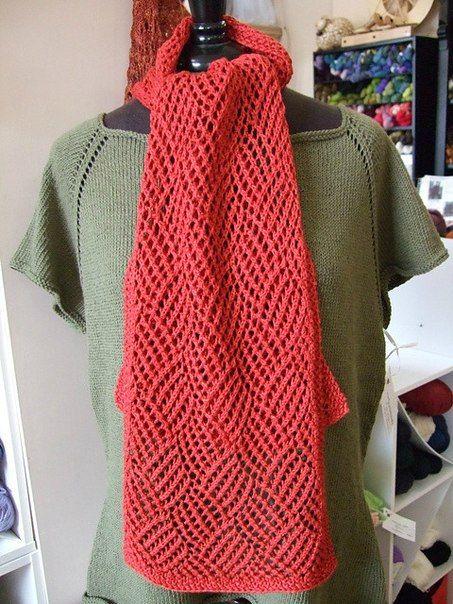 Узор для ажурного шарфа