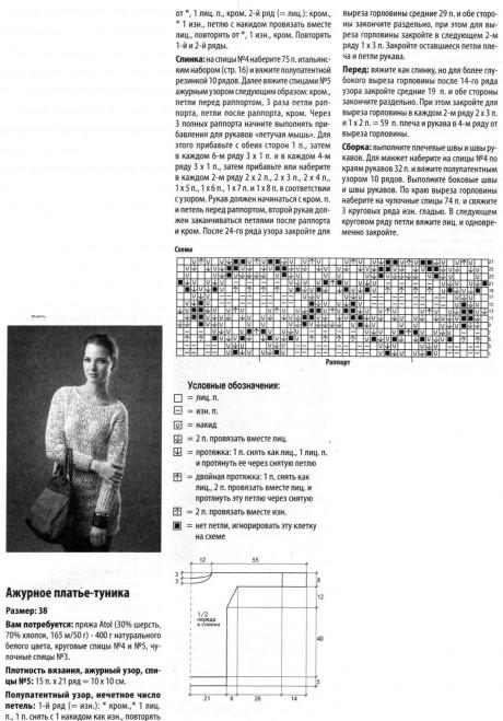 описание туники платья ажурного