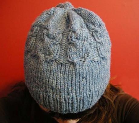 Женская шапка Сова спицами By Ruthie Nussbaum