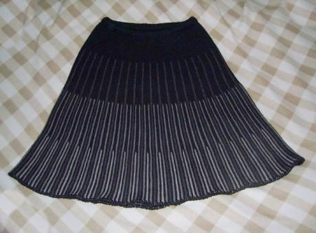 Как вязать расклешенную юбку спицами