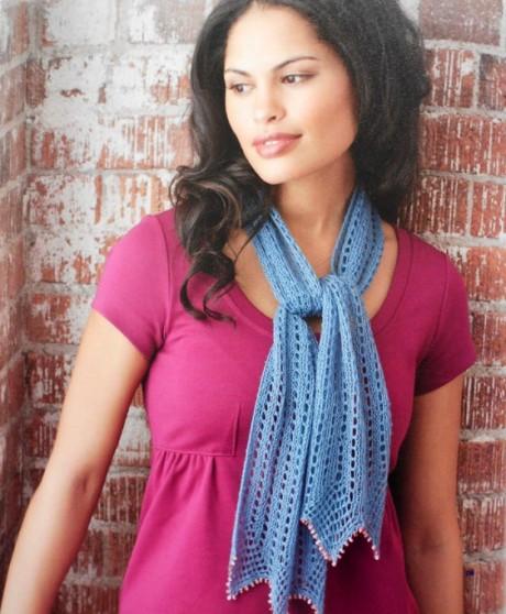 Два ажурных шарфа по одной схеме