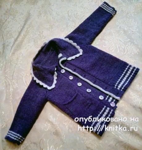 Классический костюм спицами для девочек на 2 - года вязание и схемы вязания