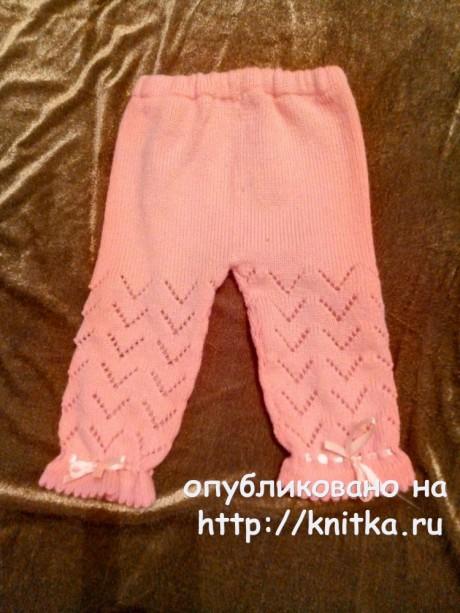Костюм для девочки спицами. Работа Ивановой Людмилы вязание и схемы вязания