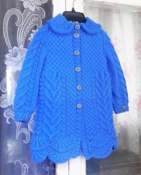 Пальто для девочки спицами от Светланы Берсановой