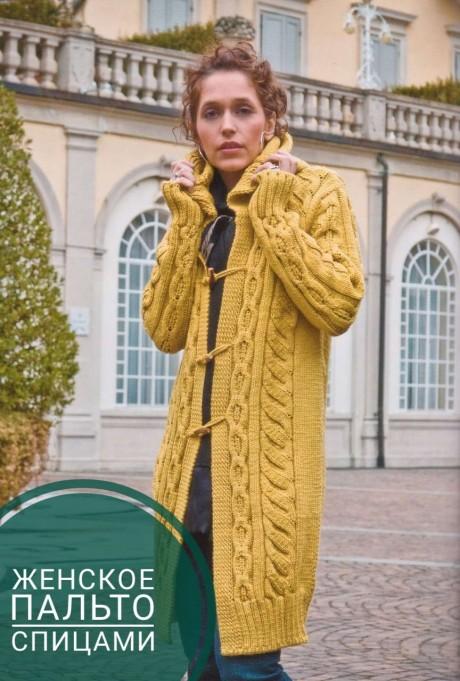 Вяжем модное пальто спицами для женщин. Вязание спицами.