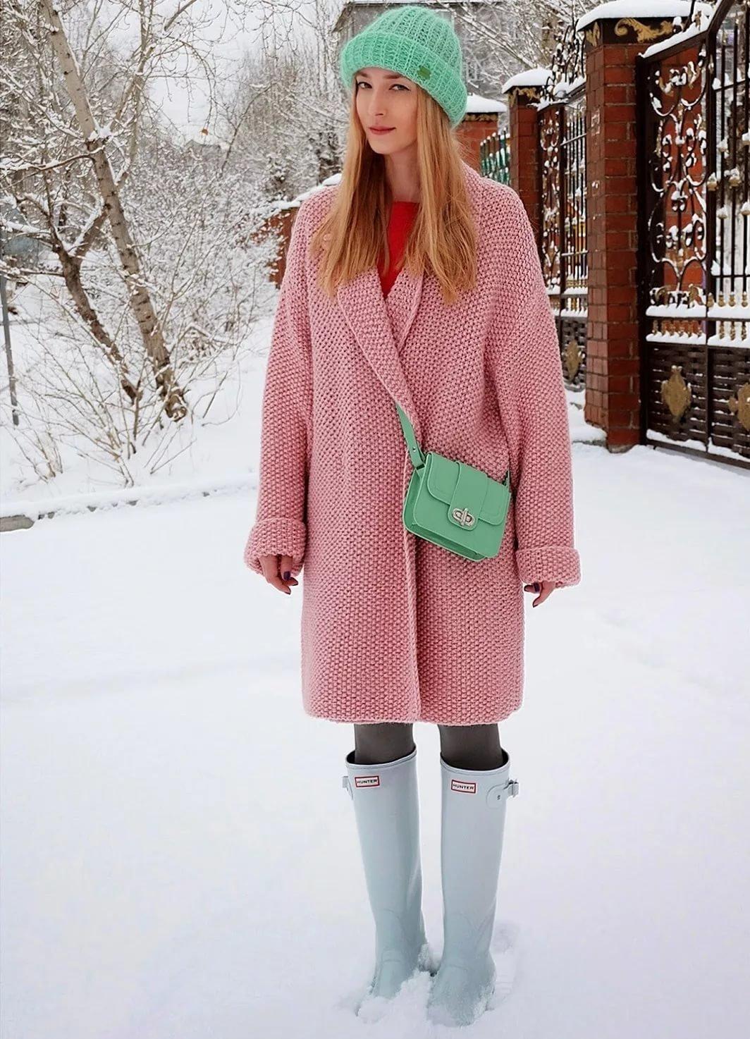 Модель пальто для вязания
