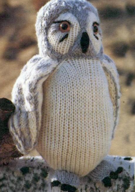 Вяжем спицами полярную сову
