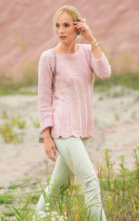 Трапециевидный свитер спицами